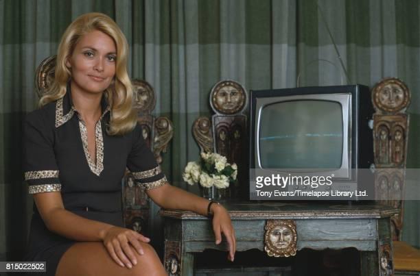 British actress Alexandra Bastedo poses in 1970
