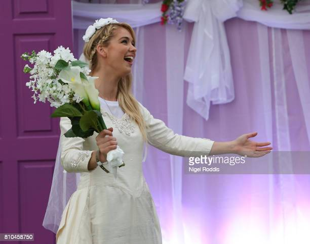 British actress Amanda Clapham attends the opening of Comedy Central UK's FriendsFest at Hillsborough Park on July 7 2017 in Sheffield England
