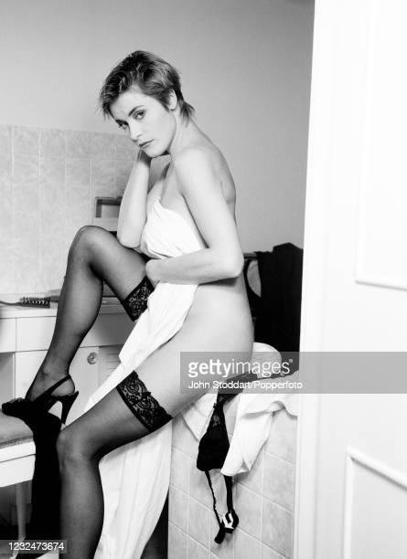 British actress Amanda Donohoe, photographed in London on 13th February, 1989.