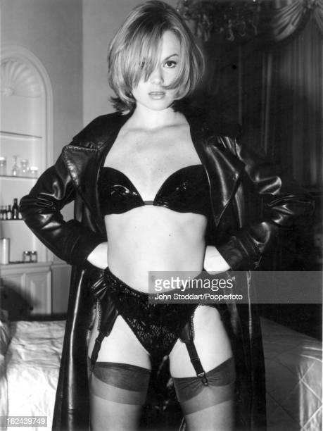 British actress Amanda Holden posed in 1995
