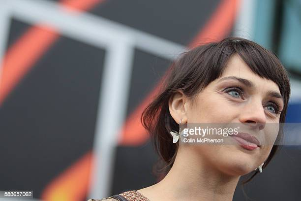 British actress Amanda Ryan arriving at the Cineworld cinema for the UK premiere of her latest film Sparkle as part of the Edinburgh International...