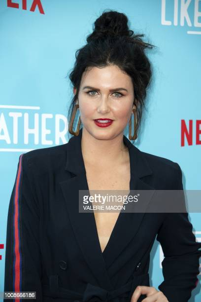 British actress Amber Hodgkiss attends the premiere of Netflix's 'Like Father' on July 31 in Hollywood California