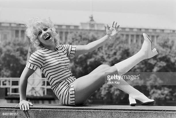 British actress and comedian Jan Hunt whilst appearing in the musical 'Show Boat' at the Adelphi Theatre in London UK 22nd June 1971