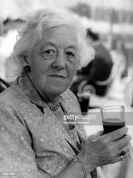 British actress and comedy star Dame Margaret Rutherford in Rome on the set of the film 'Arabella'.