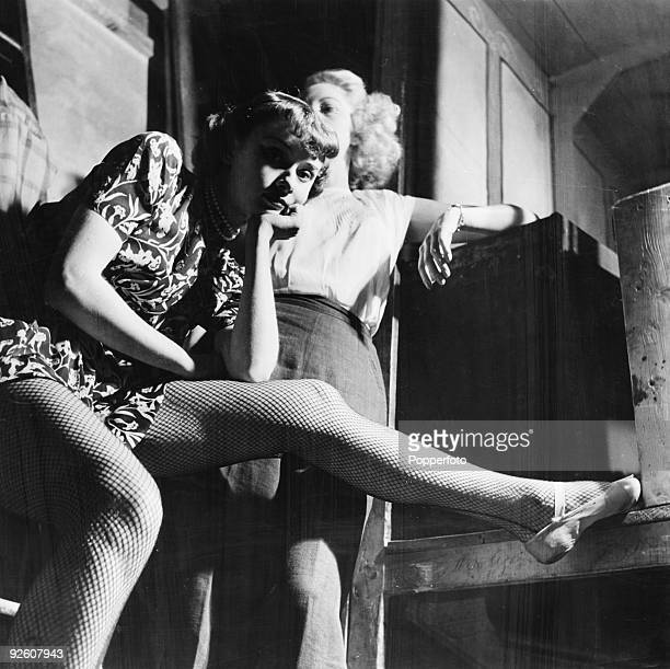 British actress and dancer Audrey Hepburn auditions for a part in the chorus of 'High Button Shoes' in London's West End 1948 Also auditioning is...