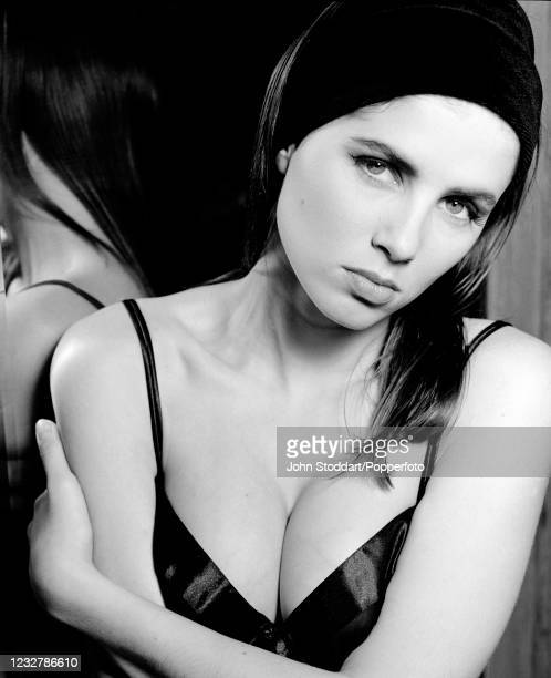 British actress and designer Sadie Frost, photographed on 21st February 1990.