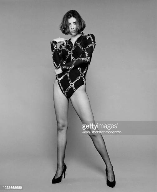 British actress and designer Sadie Frost, photographed on 23rd August, 1991.