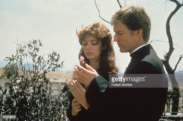 British actress and former model Rachel Ward and Richard Chamberlain in the television drama 'The Thorn Birds'