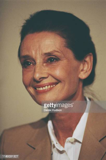 British actress and humanitarian Audrey Hepburn on her first field mission for UNICEF in Ethiopia, 16th-17th March 1988.