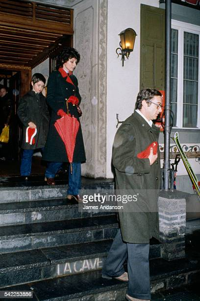 British actress and humanitarian Audrey Hepburn with her husband Italian psychiatrist Andrea Dotti and their son Luca 7