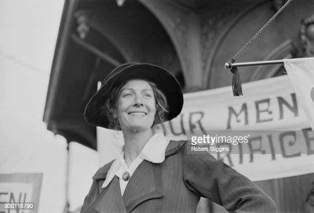 British actress and political activist Vanessa Redgrave as 'Sylvia Pankhurst' on set of comedy musical film 'Oh What a Lovely War' 24th July 1968