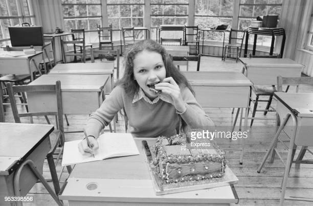 British actress and singer Fiona Fullerton celebrating her 15th birthday UK 10th October 1971