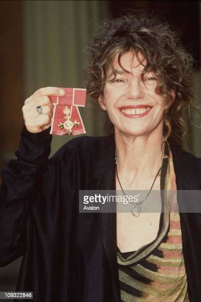 British Actress and Singer Jane Birkin Obe Outside Buckingham Palace after receiving her OBE