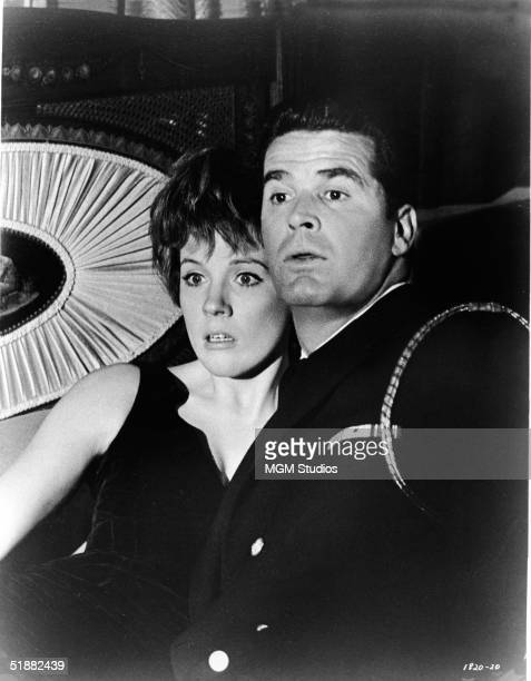 British actress and singer Julie Andrews and American actor James Garner are surprised in the midst of professing their love for one another in a...