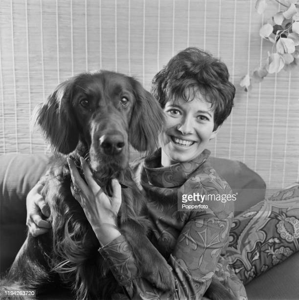 British actress and television presenter Carol Chell posed at home with her pet dog in October 1967 Carol Chell is currently a presenter of the BBC...