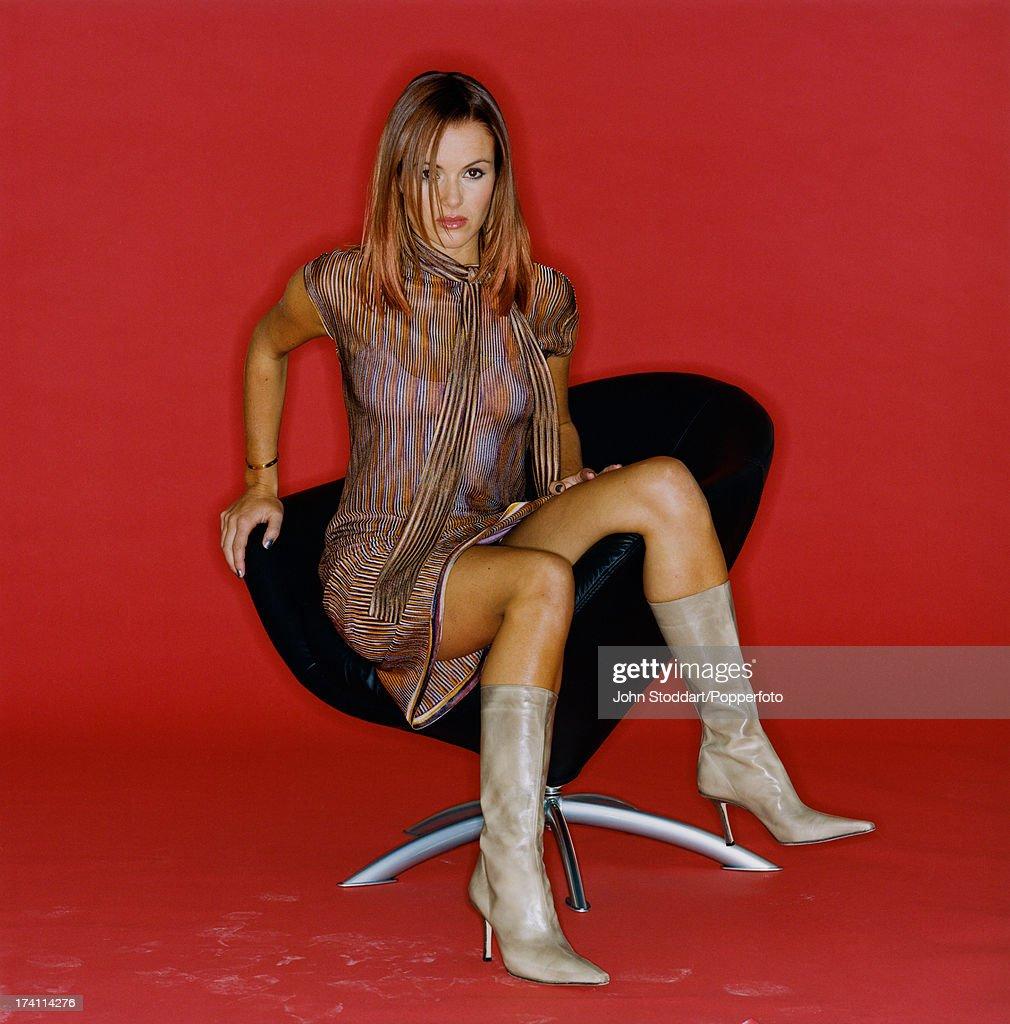 British actress and TV presenter Amanda Holden, circa 1995.