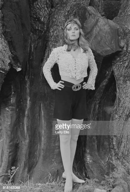 British actress and writer Fiona Lewis, UK, 6th April 1968.
