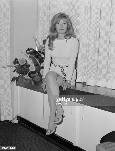 British actress Ann Bell at the launching party for London Weekend Television series 'The Company of Five', UK, 23rd October 1968.