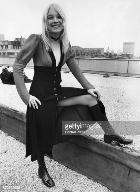 British actress Ann Holloway star of Thames Television show 'Father Dear Father' UK 12th November 1970