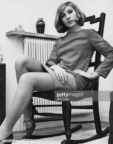 British actress Ann Lynn at home November 1966