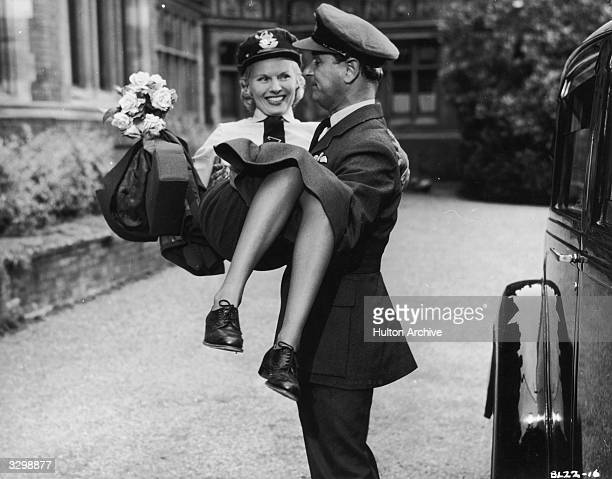 British actress Ann Todd stars with Nigel Patrick who plays her test pilot husband in the film 'The Sound Barrier' written by Terence Rattigan The...