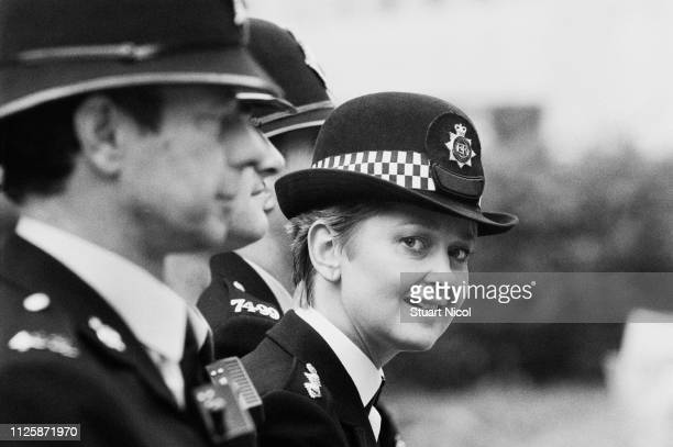 British actress Anna Carteret as police inspector 'Kate Longton' in the BBC television series 'Juliet Bravo' UK 1st September 1983