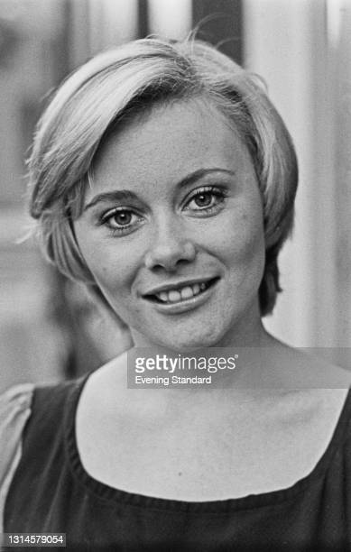 British actress Anne Aston, the 'Golden Girl' on British television game show 'The Golden Shot', UK, 28th December 1973.