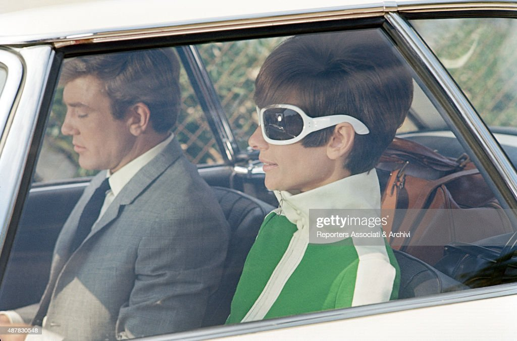 British actress Audrey Hepburn and British actor Albert Finney in a car during a scene of Two For the Road. 1967