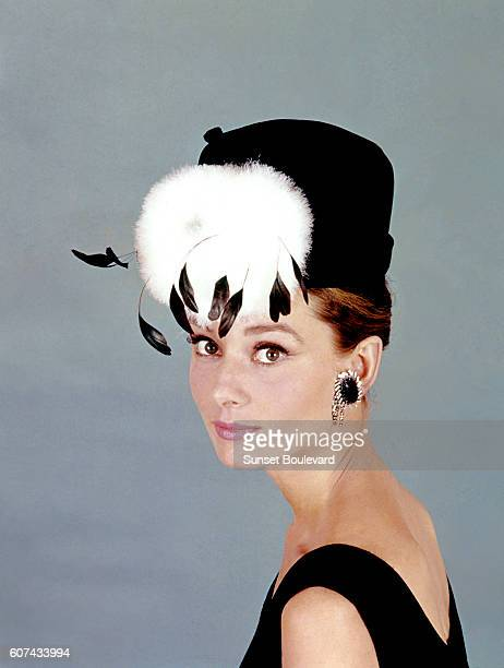 British actress Audrey Hepburn on the set of Breakfast at Tiffany's based on the novel by Truman Capote and directed by Blake Edwards