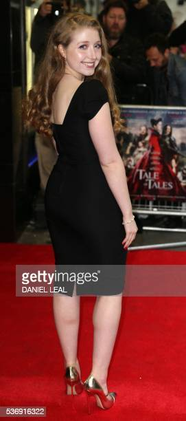 British actress Bebe Cave arrives to attend the UK premiere of the film Tales of Tales in central London on June 1 2016 / AFP / DANIEL LEALOLIVAS