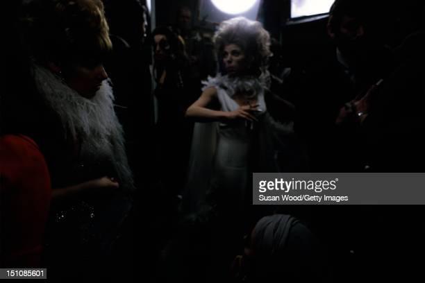 British actress Billie Whitelaw on the set of 'Leo the Last' , England, 1970.