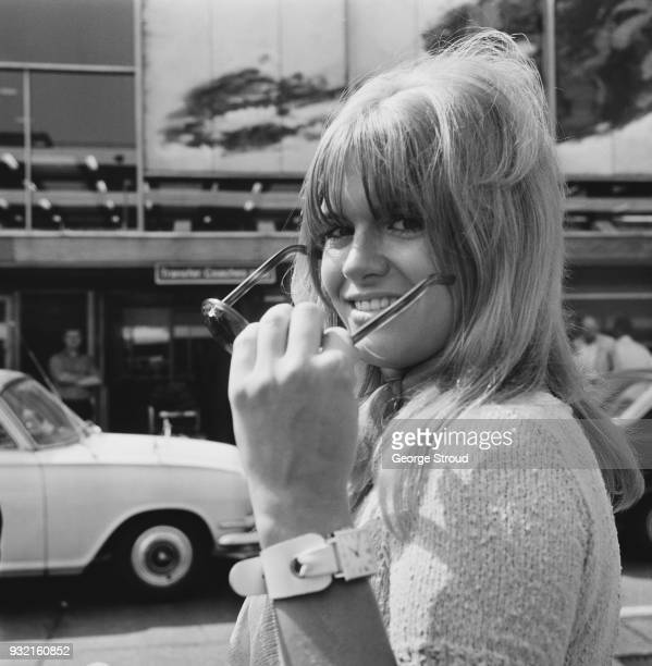 British actress Carol White at Heathrow Airport UK 25th August 1968