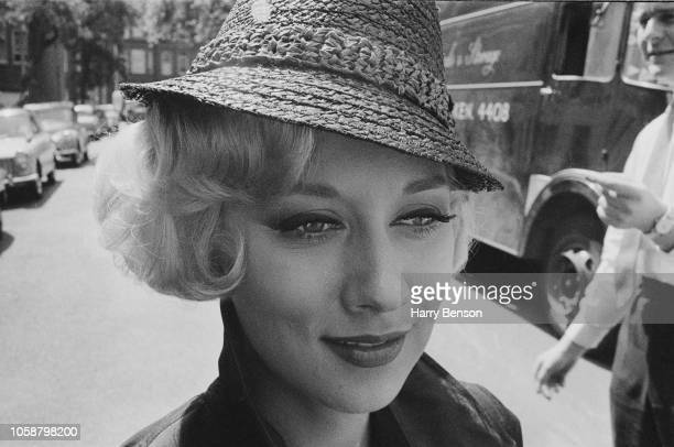 British actress Carole Lesley on the set of British comedy film 'What a Whopper' UK 29th June 1961