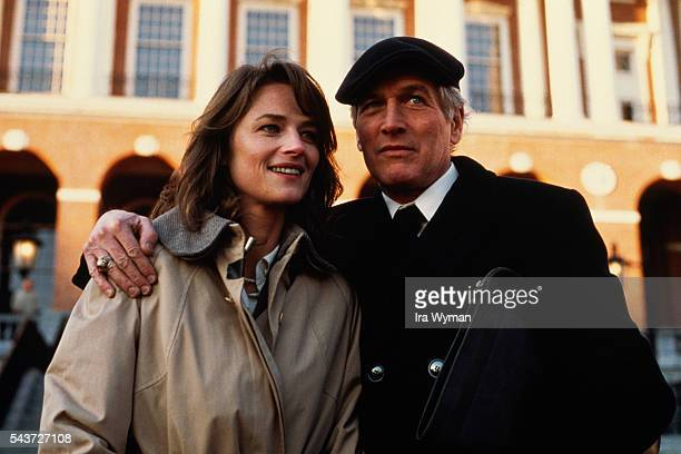 British actress Charlotte Rampling and American actor Paul Newman on the set of The verdict, directed by Sidney Lumet.