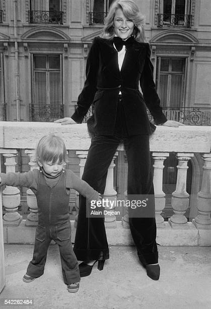 British actress Charlotte Rampling and her son Barnaby she had with actor Bryan Southcombe