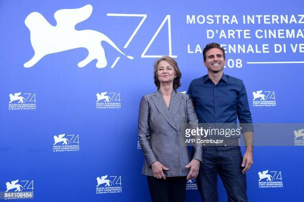 British actress Charlotte Rampling and Italian director Andrea Pallaoro attend the photocall of the movie 'Hannah' presented in competition at the...
