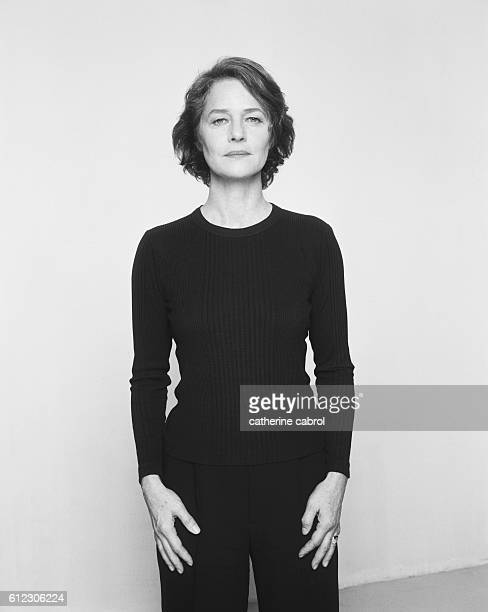 British actress Charlotte Rampling for the photographic series 'Personne Personnage'