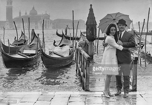 British actress Claire Bloom and her husband American actor Rod Steiger in Venice Italy for the film festival in September 1963