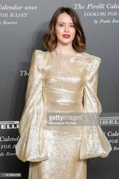 British actress Claire Foy during the presentation of the Pirelli 2020 Calendar at the Verona Philharmonic Theater. Verona , December 3rd, 2019
