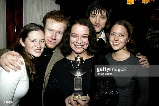 British Actress Clare Higgins poses with her 2003 Laurence Olivier Award for Best Actress for Vincent in Brixton at the Cottesloe and Wyndham's...