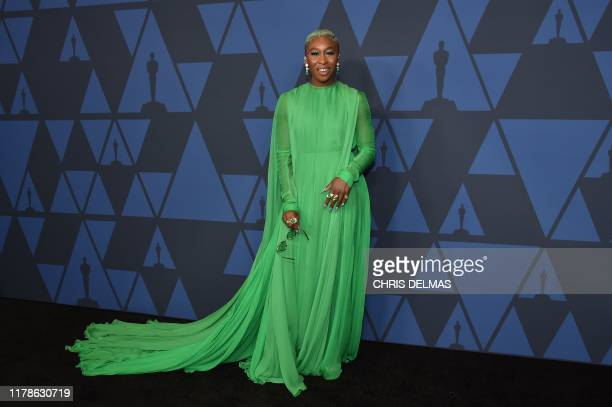 British actress Cynthia Erivo arrives to attend the 11th Annual Governors Awards gala hosted by the Academy of Motion Picture Arts and Sciences at...