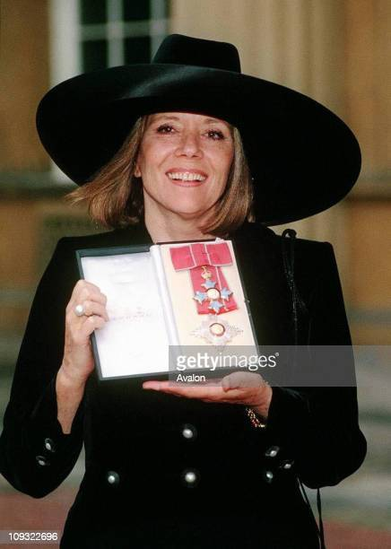British Actress Dame Diana Rigg Dbe Outside Buckingham Palace after receiving her DBE from the Queen