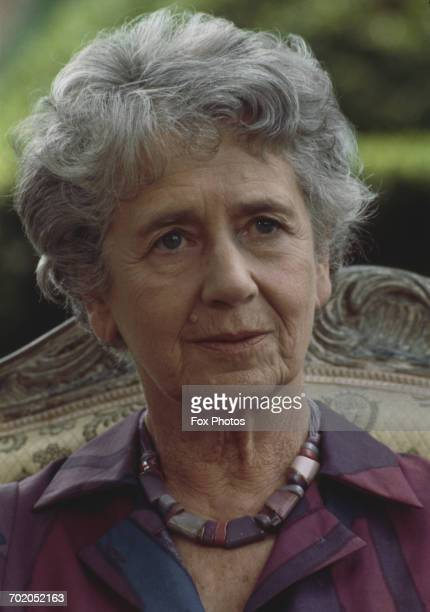 British actress Dame Peggy Ashcroft in a publicity still for the Thames Television series 'Six Centuries of Verse' Beckley Park Oxfordshire 1984