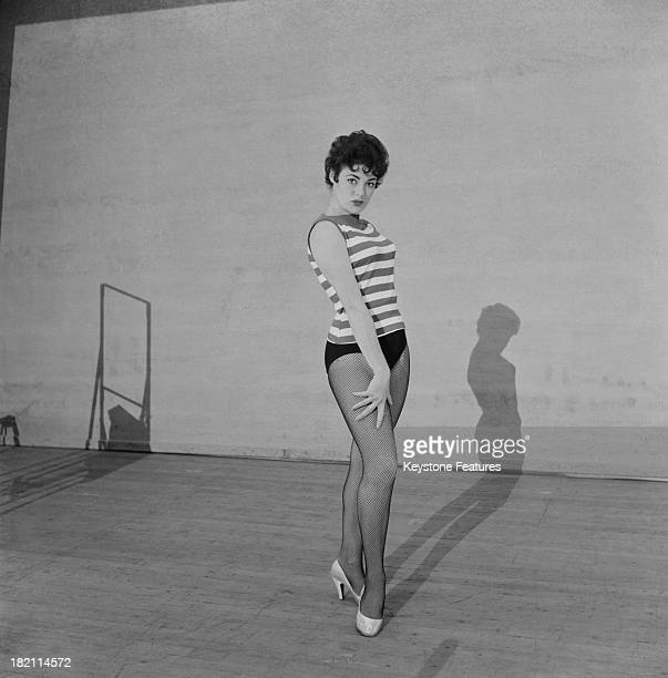 British actress, dancer and member of the 'Crazy Gang', Anne Hart, 1959.