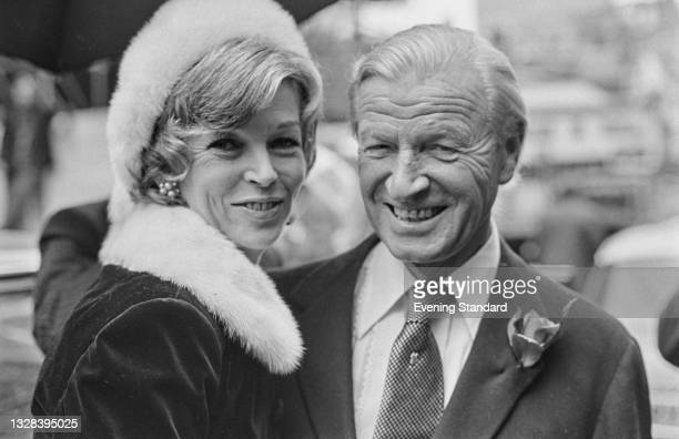 British actress Dawn Addams after her wedding to retired businessman Jimmy White in London, UK, 27th September 1974.