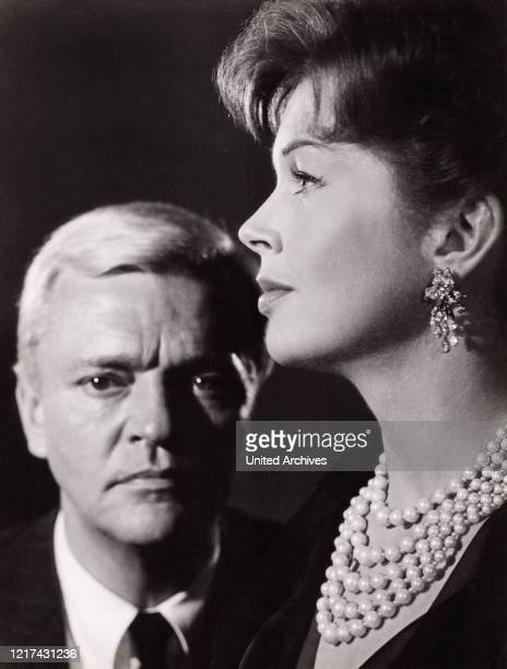 British actress Dawn Addams an actor Peter van Eyck starring in a German movie Germany 1960
