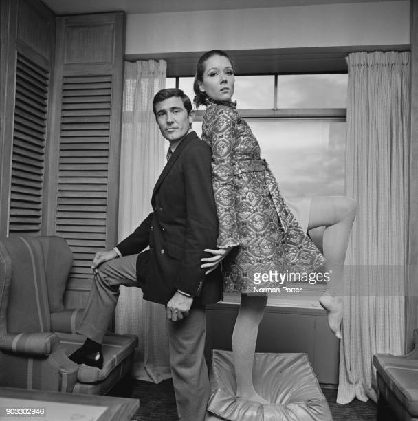 British actress Diana Rigg and Australian actor George Lazenby costars in the James Bond movie 'On Her Majesty's Secret Service' UK 14th October 1968