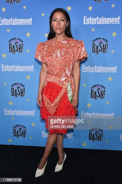 British actress Eleanor Matsuura arrives for the annual Entertainment Weekly Comic Con party at the Hard Rock Hotel in San Diego California on July...