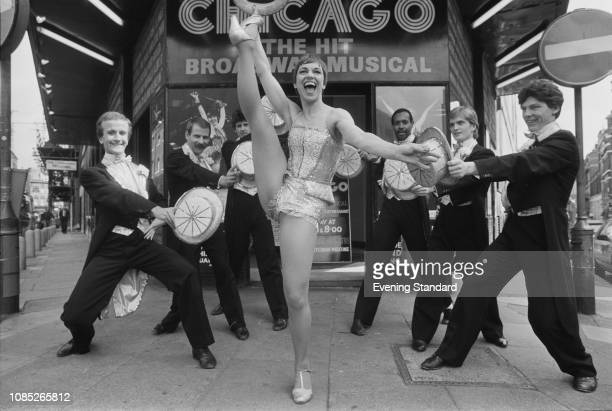 British actress Elizabeth Seal who took over the role of 'Roxie Hart' in 'Chicago A Musical Vaudeville' with male performers London UK 2nd September...