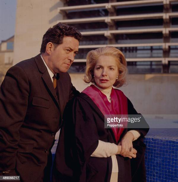 British actress Elizabeth Sellars and English actor John Gregson pictured in a scene from the television drama 'Person Unknown' in 1968
